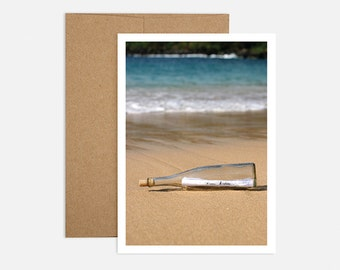 Message in a Bottle Birthday Greeting Card