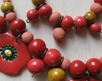 Poppy necklace with bracelet