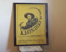 Vintage festival poster Klondike Festival 1972 1973 Seattle artist Neil M Fredericksen poster & brochure Alaska BC Yukon Washington