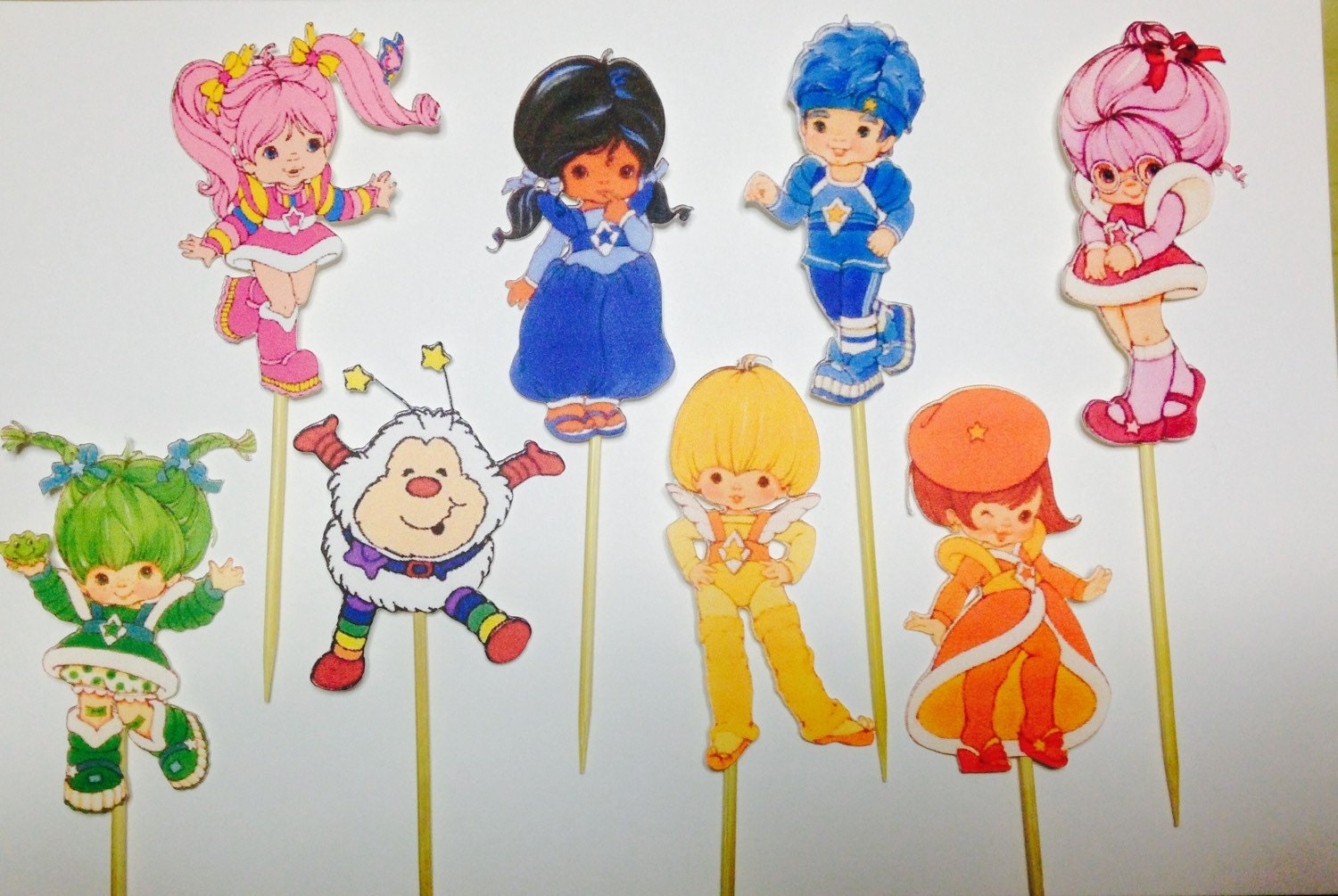 Rainbow brite cake/cupcake toppers by Elizassweetboutique on Etsy
