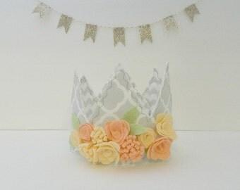 PEACHES || Fabric Crown