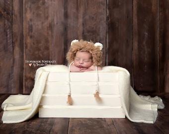 Lion Hat Newborn Baby Hat, Knit Newborn Hat, Crochet baby Hat
