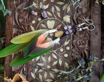 lovely feathery goddess earrings