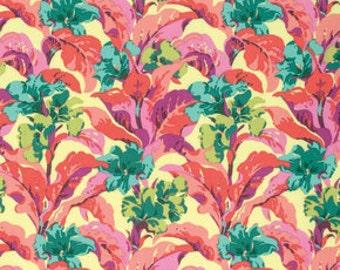 Half Yard - 1/2 Yard - Tropi Canna in Peach - BRIGHT HEART Collection by Amy Butler