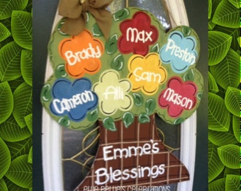 Family Tree Door Hanger Sign