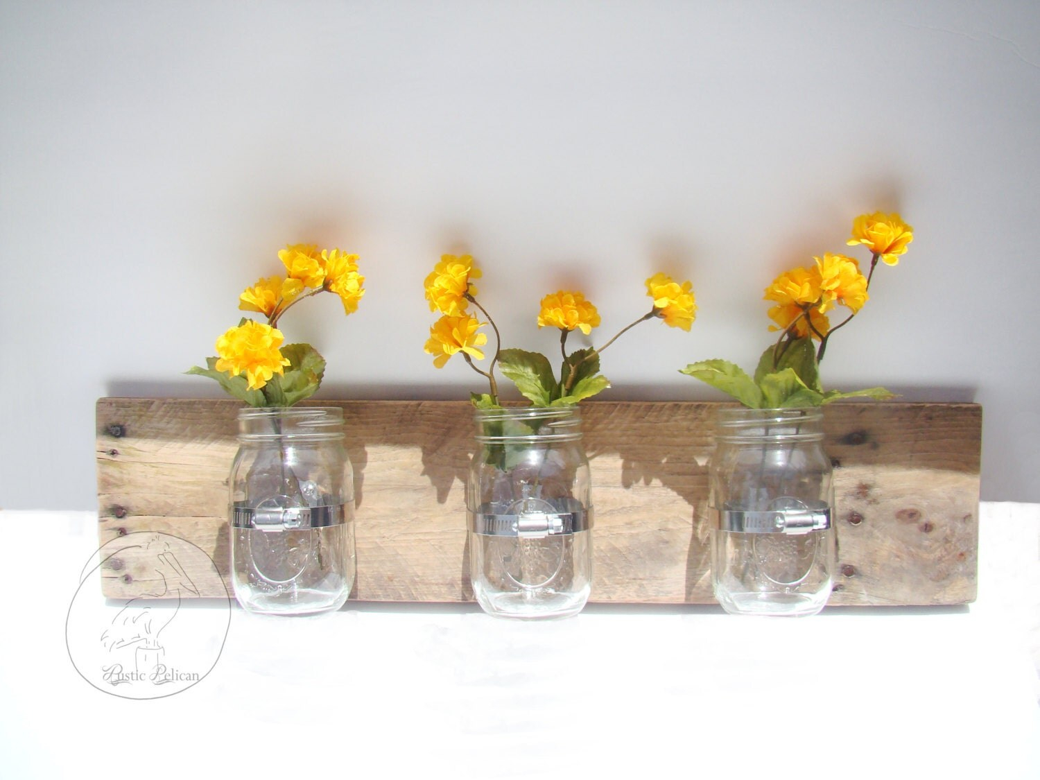 Wall Decor With Mason Jars : Rustic mason jar wall decor art