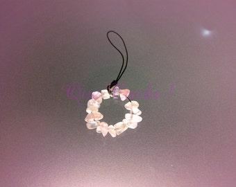 Jewels for mobile in pink Quartz