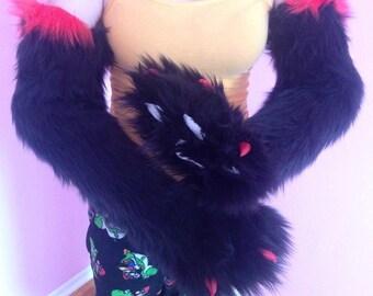 Shoulder length fursuit paws