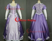 Disney movie Tangled Rapunzel Cosplay Costume purple dress (ver. A) - Custom made in sizes