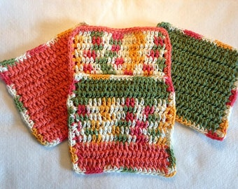 Dish Cloths Crocheted Mango Madness