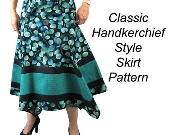 Handkerchief Skirt Sewing Pattern, BSS141