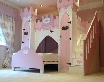 Princess Castle Bed, bunk bed, girls bed, princess bed