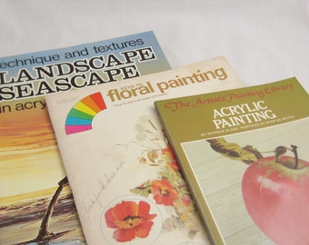 Three How to Paint Books - Acrylic Painting
