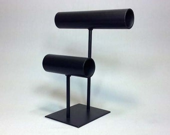 Black Steel Bracelet Display, Black Steel Bracelet Stand, Black Steel Bangle Display, Black Steel Bangle Stand, Steel Jewelry Stand 068