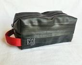 Mens Toiletry Bag - Recycled Bike Tube Dopp Kit