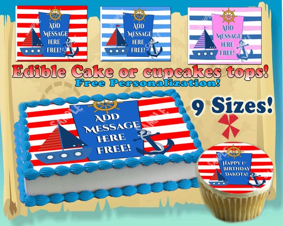 Edible Cake Decorations Nautical Dmost for