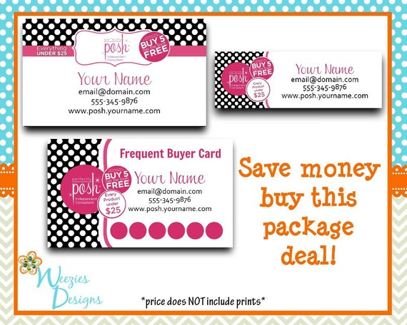 perfectly posh business package business card by weeziesdesigns. Black Bedroom Furniture Sets. Home Design Ideas