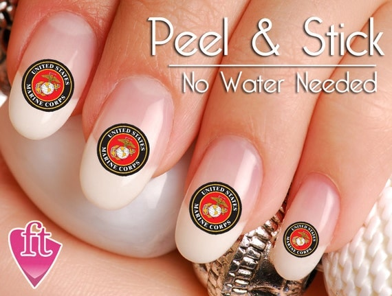United states marine nail art sticker set mar102 like this item prinsesfo Gallery