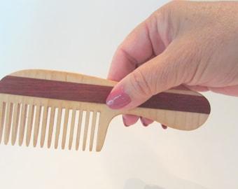 Wooden Comb, Handmade Wood Comb, Women Comb, Natural Hair Care, Convenient Size, Comfort Feel, Safe Natural Finish