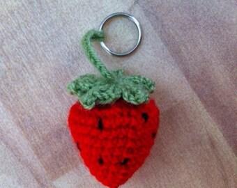 Strawberry key ring