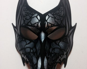 Wolf Dragon Leather Mask Any Color