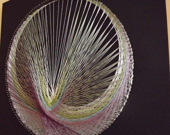 """3D Modern Abstract String art """"The colours of the rainbow"""""""