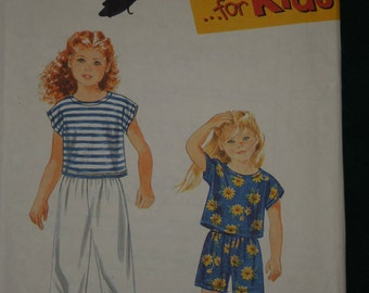 Simplicity 9467, UNCUT sewing pattern, sizes 2-6X, pants, top, shorts, boys, girls, childrens, craft supplies