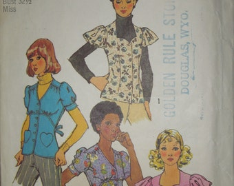 Simplicity 5803, size 10, misses, womens, teens, tops, blouses, sewing pattern, craft supplies, cut, and complete