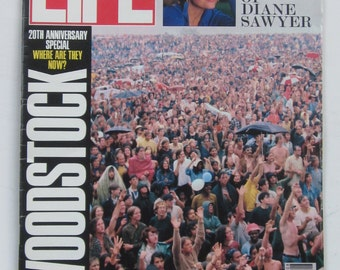 WOODSTOCK Anniversary Issue-August 1989 LIFE Magazine-20th Anniversary Special WOODSTOCK Where Are They Now?-Collectible Book