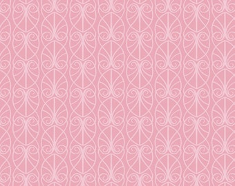 Lewis & Irene April Showers Patchwork Quilting Fabric - A71.1 Parisian Fretwork on Pink