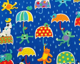 Patchwork Quilting Fabric Timeless Treasures C1369 Raining Cats & Dogs