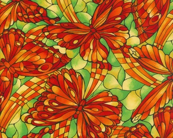 Fabric Freedom 'Reduced Price' F852-1 Light Fantastic Butterflies Patchwork Quilting
