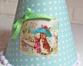 Beatrix Potter Lampshade Choose Your Ribbon Peter Rabbit Nursery Beatrix Potter Nursery Peter Rabbit Lamp Shade Kids Lampshade