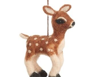 Bambi - Felt animals - Felt-Needle felted Animal - Needle felt - Wool felt - Woodland decorations - Baby shower-Merino wool-Ethical-Handmade