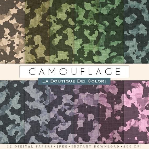 Camo Scrapbook Paper