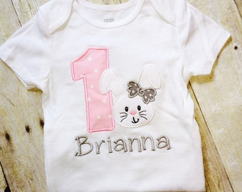 Bunny first birthday outfit , 1st  birthday sun  outfit - Toddler girl,  Baby Girl personalized , 1st Birthday  girl