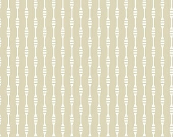 One Yard Serena - Morif Stripe in Tan - Cotton Quilt Fabric - Windham Fabrics 37385-2 (W2641)