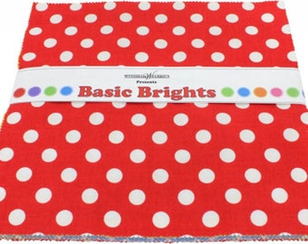 "Windham Basic Brights Layer Cake - (42) 10"" X 10"" Squares Cotton Quilt Fabric - Windham Fabrics - CP10BB-79 (W2751)"