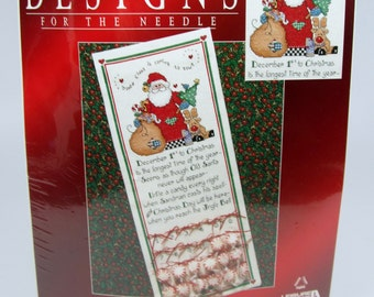 Christmas Traditions Advent Calendar Counted Cross Stitch Kit #309844