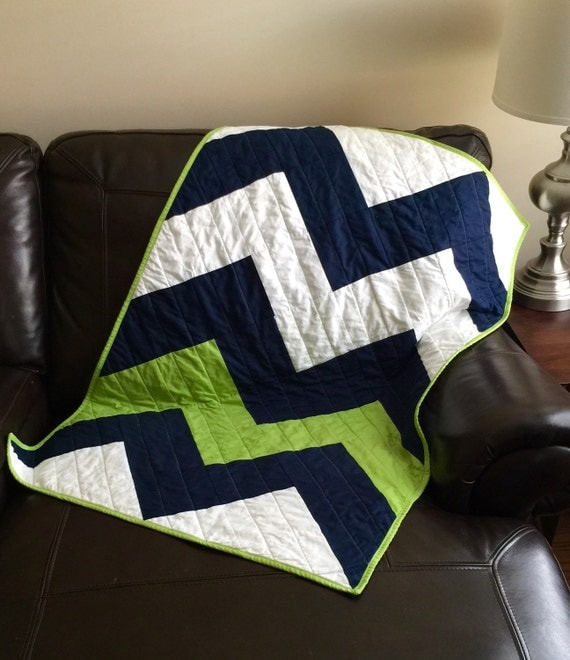 Items Similar To Crib Bedding Baby Blanket Quilt Chevron
