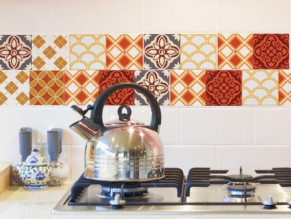 Moroccan tiles backsplash