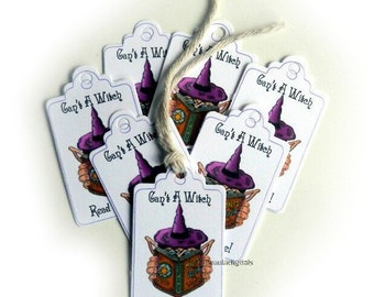 50 Can't a Witch Read - Small Swing Tags - Paper Product - Printed Material