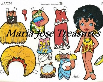 Vintage Hawaiian Paper Dolls - Digital Download