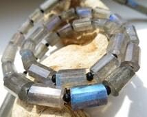 BLUE FIRE labradorite black spinell  necklace big beads  gift bithstone june gemstone springtime easter grey  birthday summer necklace