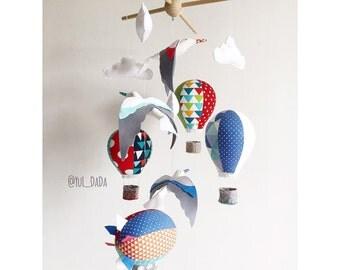 Baby Mobile. Hot air balloon & seagull