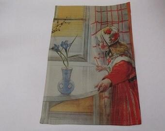 "Garden Flag 12"" x 17"" -  Carl Larsson Karin at the Window #095"