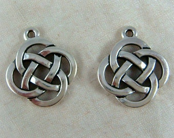 5x Silver Celtic Chinese Knot Charm Bangle