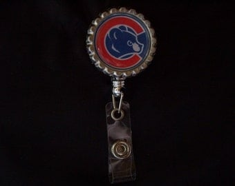Name Badge Reel - Retractable Name Badge Reel (110) - Cubs Badge Reel - Cubs ID Holder - Chicago Cubs