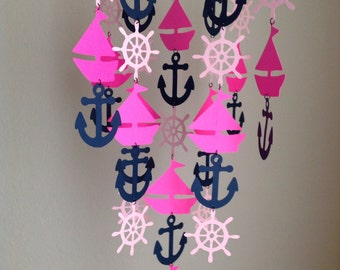 Nursery Mobile - Nautical Girl Crib Mobile - Nautical Nursery Mobile