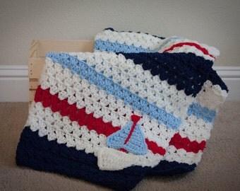 Sail Away Baby Blanket